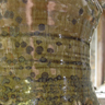 Large jug neck glaze detail , green ash glaze