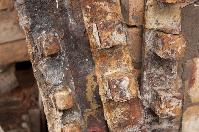 Rusty old firebars