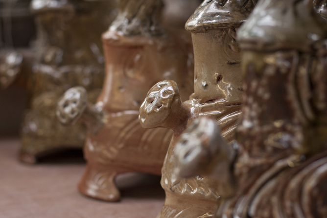 Candleholders, handles detail