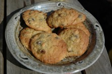Cookies on a salt-glazed plate