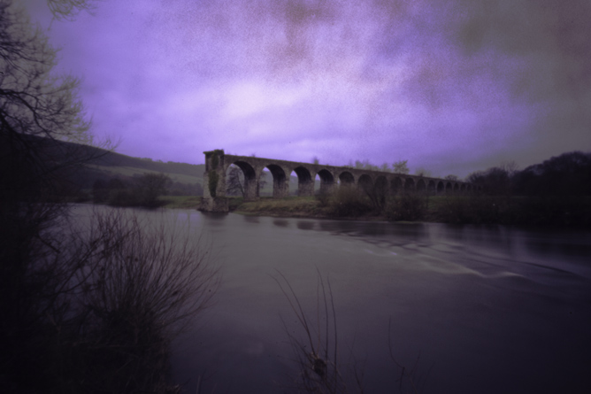 'Viaduct Over the Wye', pinhole image by J.P.Kavanagh