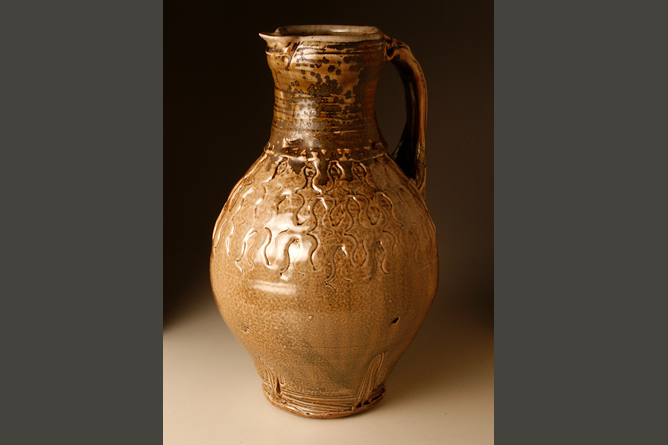 Large jug, wood-fired salt-glaze