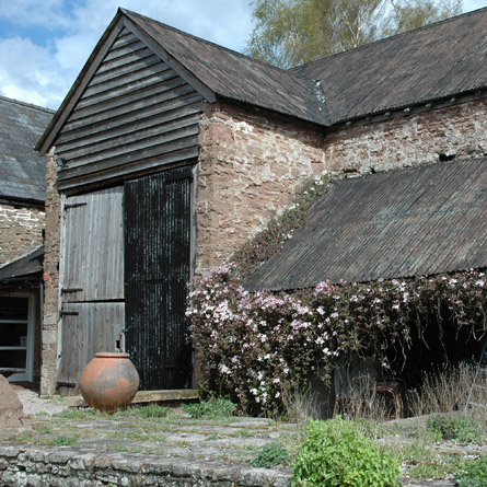 Herefordshire threshing barn, craft exhibition