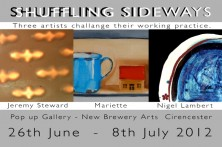 Exhibition invitation for Shuffling sideways
