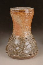 Flower vase, wood-fired salt-glaze