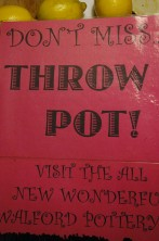 School poster 'Throw a pot'