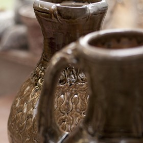 Large jugs, wood-fired salt-glaze