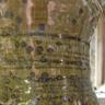 Large jug neck glaze detail , green ash glaze