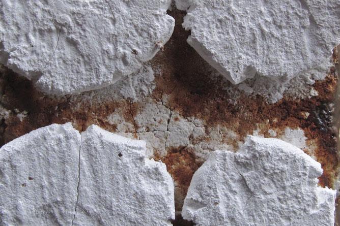 Kiln prop close-up