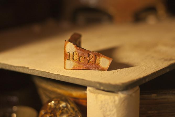 Salt--fired clay test piece