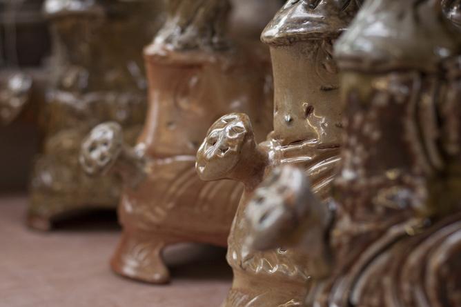 Candleholders, handles detail