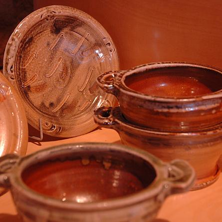 Plates and bowls, Jeremy Steward wood-fired salt-glaze