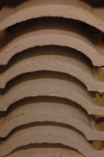 White castable firing moulds for porcelain wall light covers