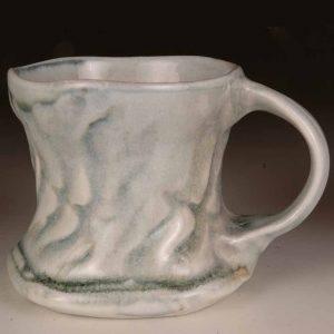 Mug Rouletted #2: Wood Fired Salt Glaze by Jeremy Steward