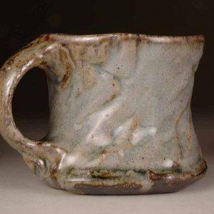 Mug Rouletted #3: Wood Fired Salt Glaze by Jeremy Steward