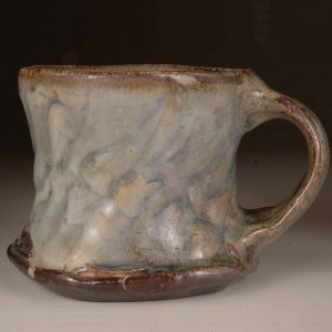 Mug Rouletted #4: Wood Fired Salt Glaze by Jeremy Steward